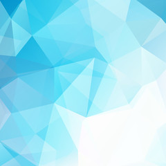 Background made of blue, white triangles. Square composition with geometric shapes. Eps 10