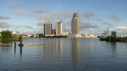 Mobile Alabama Downtown City Skyline Gulf Coast Seaport