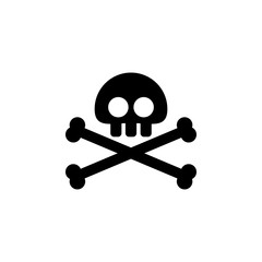 skull and Bones icon. Element of ghost elements illustration. Thin line  illustration for website design and development, app development. Premium icon