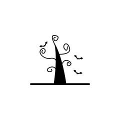 tree icon. Element of ghost elements illustration. Thin line  illustration for website design and development, app development. Premium icon