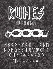 Vector illustration - runic style hand drawn alphabet