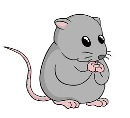 Funny rat illustration