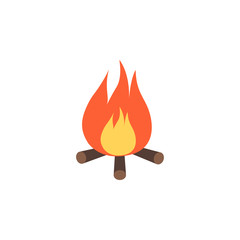 bonfire colored icon. Element of colored autumn icon for mobile concept and web apps. Colored bonfire icon can be used for web and mobile
