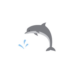 dolphin colored icon. Element of colored autumn icon for mobile concept and web apps. Colored dolphin icon can be used for web and mobile