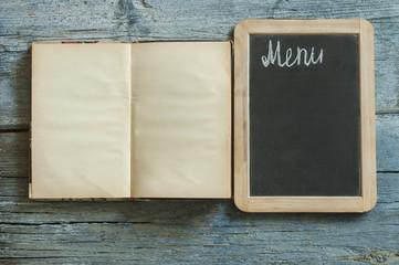 Blank vintage recipe cooking book