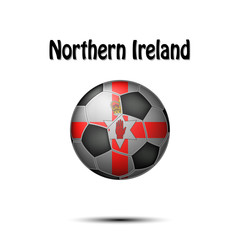 Flag of Northern Ireland in the form of a soccer ball
