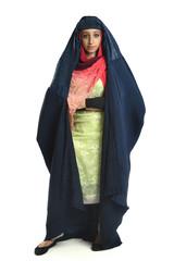 Islamic Woman Wearing Burqa Standing