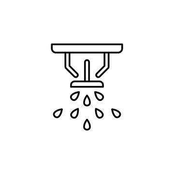 fire sprinkler icon. Element of drip watering icon for mobile concept and web apps. Thin line fire sprinkler icon can be used for web and mobile