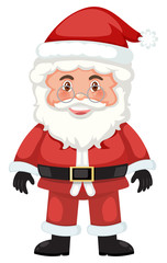 Cute santa white background