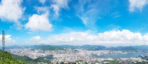 Wall mural 都市風景 長崎市 稲佐山からの眺望