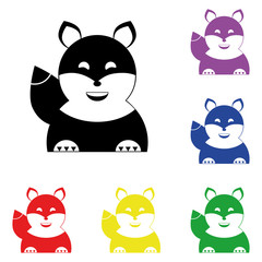 Elements of squirrel in multi colored icons. Premium quality graphic design icon. Simple icon for websites, web design, mobile app, info graphics