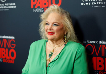 "Singer and songwriter Carol Connors poses at a screening of ""Loving Pablo"" in West Hollywood"