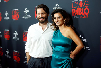 "Ramirez and Cruz pose at a screening of ""Loving Pablo"" in West Hollywood"