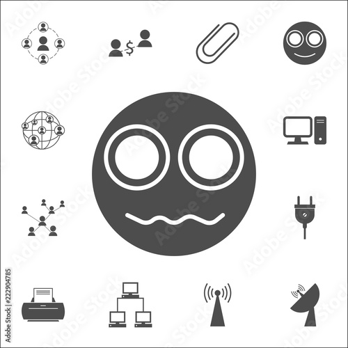 an indignant smiley icon  web icons universal set for web and mobile
