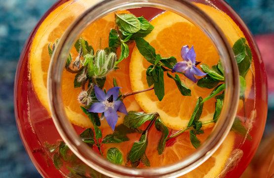 Orange Borage Kombucha