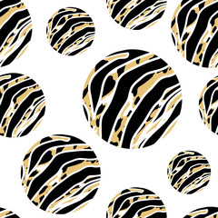 Abstract animal print in circle shape. Wild animals seamless pattern. background texture. Modern abstract design for paper, cover, fabric, interior decor and other users