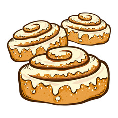 Hand Drawn Cinnamon Rolls