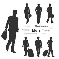 男性シルエット(ビジネス/通勤/出張)