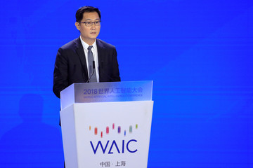 Tencent Chairman and Chief Executive Officer Pony Ma Huateng attends the WAIC in Shanghai