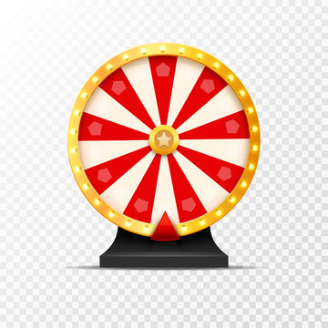 Wheel Of Fortune lottery luck illustration isolated. Casino game of chance. Win fortune roulette. Gamble chance leisure