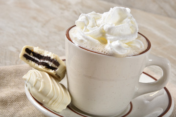 Hot chocolate and gourmet cookies