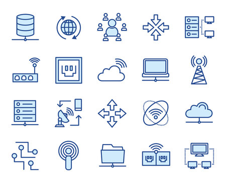 Netzwerk Vector Icon Illustration Set