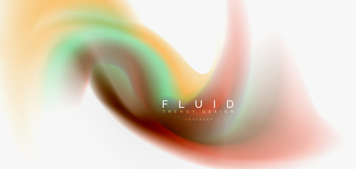 Color flowing wave, trendy liquid design template