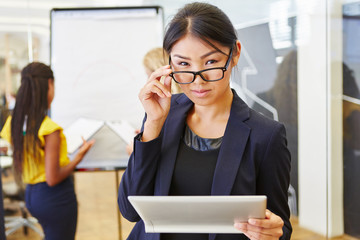 Asian woman as manager with competence