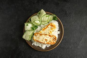Tofu Steak with Rice