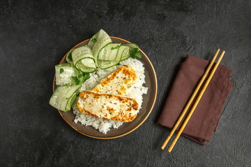 Tofu Steak with Rice
