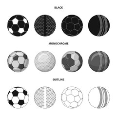 Vector design of sport and ball logo. Set of sport and athletic stock symbol for web.
