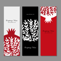 Banners design, pomegranate background