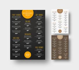 Design menu for cafes and restaurants.