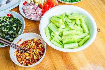 Delicious cold salad - cold cucumber