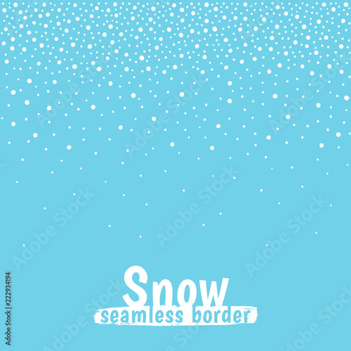 new year christmas border frame template seamless in horizontal direction winter background