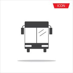 bus icon vector isolated, Public transportation symbols on white background.