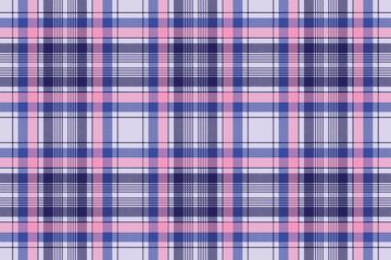 Blue pixel check plaid seamless pattern