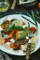 grilled vegetables mix on plate