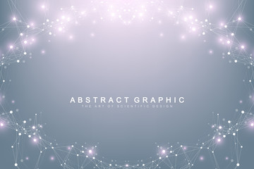 Big data visualization. Graphic abstract background communication. Perspective backdrop. Minimal array. Digital data visualization. Representing the global, international meaning. Vector illustration.