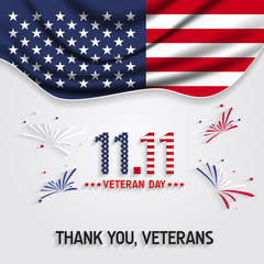 """Veterans day background. Say """"thank you veterans"""" greeting card."""