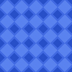 Blue abstract repeating square pattern design background - colored vector illustration