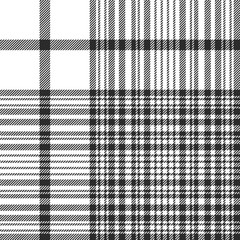 Black and white check plaid seamless fabric texture