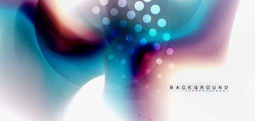 Color flowing wave, trendy liquid design template