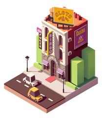 Vector isometric casino building