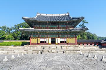 Main view of Injeongjeon Hall at Changdeokgung Palace, Seoul
