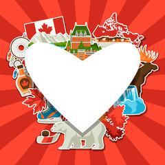 Canada sticker background design.