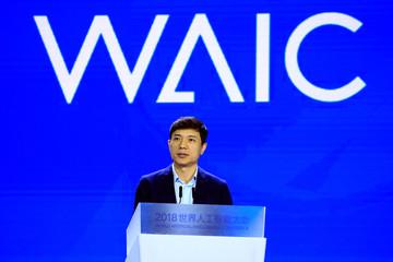 Baidu CEO Robin Li attends the WAIC (World Artificial Intelligence Conference) in Shanghai