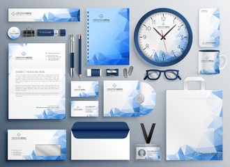 Obraz abstract blue business collateral set - fototapety do salonu