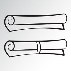 Scroll icons. Outline design. Vector illustration