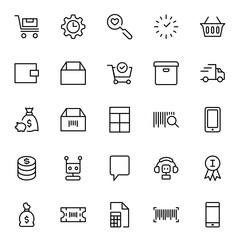 E-shopping flat icon